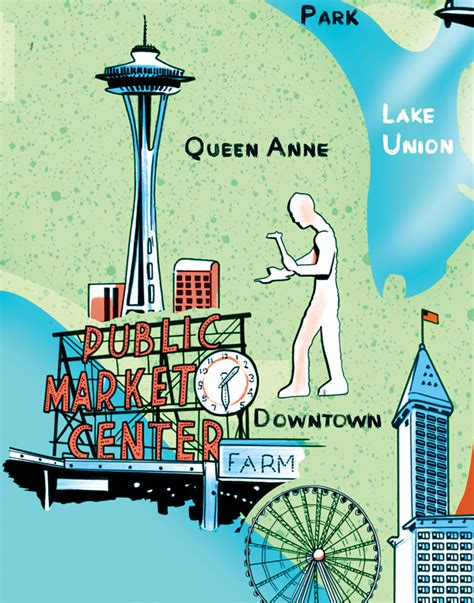 seattle visitors bureau seattle visitor guide map joel kimmel