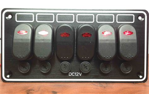Boat Switch Panel 6 Gang by Marine Boat 6 Gang Waterproof Horizontal Switch Panel