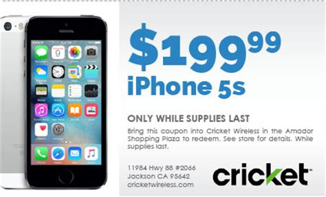 cricket wireless iphone 5s coupons