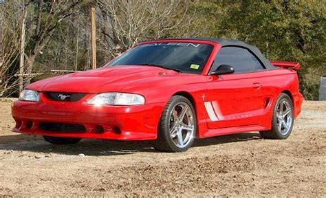 Rio Red 1997 Saleen S281 Ford Mustang Convertible