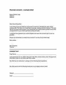 Parental Authorization Letter For Example Children