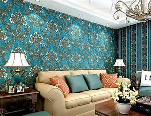 2015 New 3D Luxury Damascus 10M Vinyl Wallpaper Roll ...
