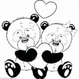 Panda Coloring Pages Pandas Cartoon Animal Romantic Couple Bear Printable Getcolorings Valentine Getdrawings Easy Drawings Teddy Getcoloringpages sketch template