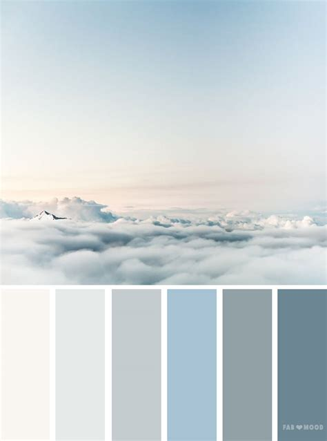 color palettes inspired  sky blue sky color schemes