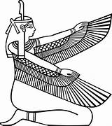 Egyptian Maat Egypt Goddess Ancient Transparent Clipart Tattoos Clip Outline Tattoo Coloring Symbol Wings Outlines Clker Pixabay Drawings Symbols Pharaoh sketch template
