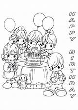 Coloring Birthday Pages Happy Printable Print Precious Moments Mom Party Adults Cards Printables Designs 40 Colour Sheet Card Sheets Parties sketch template