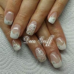 Déco French Manucure : ongle gel french blanche ongle deco griff 39 ongles ongles gel french et idee ongles ~ Farleysfitness.com Idées de Décoration