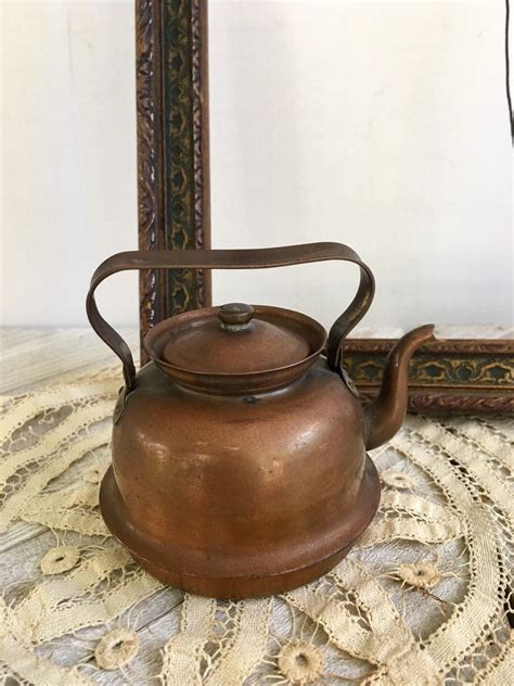 vintage copper tea kettle small copper teapot miniature teapot copper kettle   sweden
