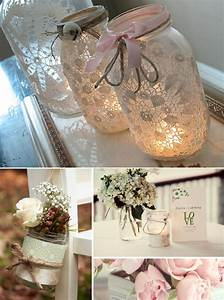 wedding decorations diy romantic decoration With decorations with mason jars for a wedding