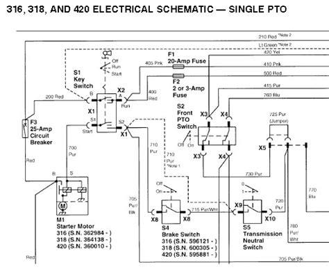 deere 317 lawn tractor wiring diagram deere 140