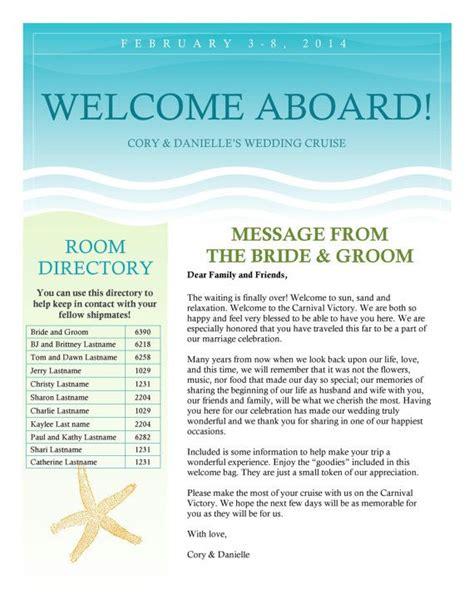 cruise wedding  letter newsletter
