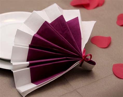 pliage serviette papier anniversaire atlub