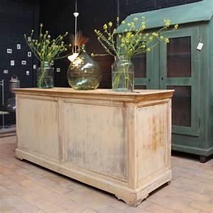 Boutique De Meuble : mobilier industriel ancien comptoir de commerce en bois ~ Teatrodelosmanantiales.com Idées de Décoration