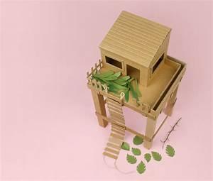 Cabane En Carton À Colorier : id e diy une cabane en carton ~ Melissatoandfro.com Idées de Décoration