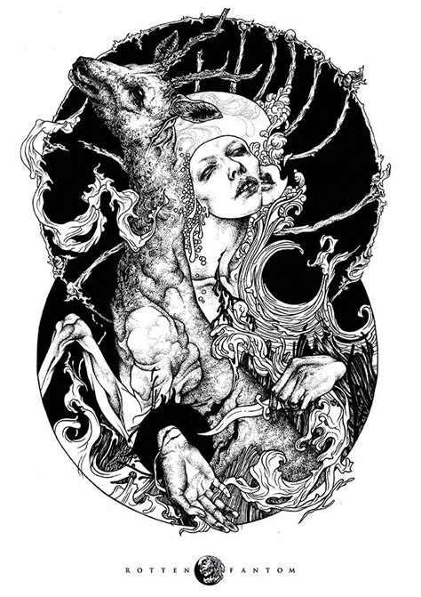 Detailed, occult illustrations by Rotten Fantom | Illustration art, Art, Illustration