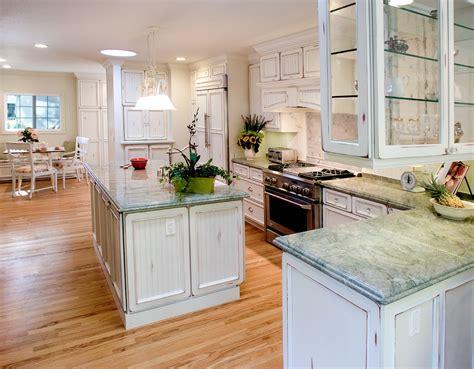 White Distressed Kitchen Cabinets Kitchen Contemporary