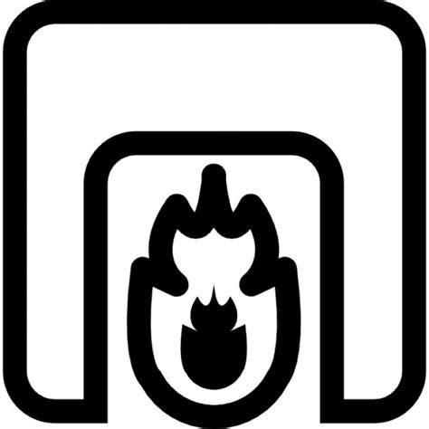Kleurplaat Open Haard Schoorsteen by Schoorsteen Met Vuur Iconen Gratis