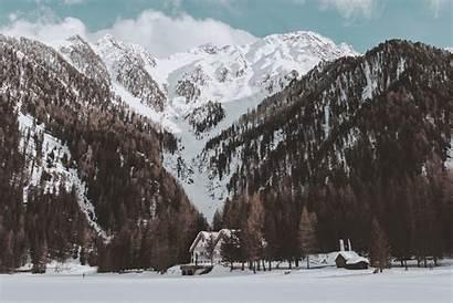 Snowy Winter Mountains Desktop Nature Landscape Pexels
