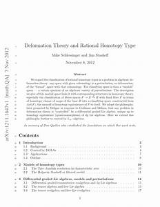 Pdf  Deformation Theory And Rational Homotopy Type