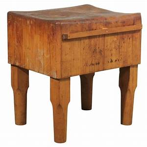 American Butcher Block Table at 1stdibs