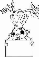Monkey Coloring Sock Monkeys Valentine Printable Zoo Drawing Socks Hop Colouring Nativity Sheet Getcolorings Simple Kanye West Getdrawings Dyed Draw sketch template