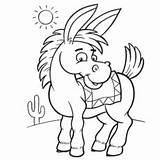 Donkey Coloring Printable Mule Preschool Drawing Shrek Getdrawings Getcolorings sketch template