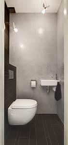 Gäste Wc Fliesen Oder Streichen : kleines g ste wc mit wand wc compact und kleinem handwaschbecken fliesen zum beispiel enmon leo ~ Markanthonyermac.com Haus und Dekorationen