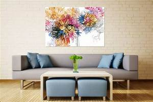 Tableau Salon Moderne : tableau d co fleur aquarelle izoa ~ Farleysfitness.com Idées de Décoration
