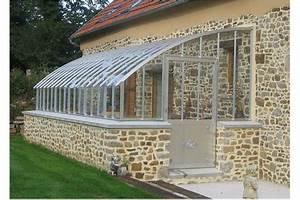 Veranda à L Ancienne : exemple de porte battante simple sur une serre verre l ~ Premium-room.com Idées de Décoration