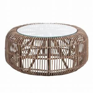 Table Basse Rotin : table ronde en rotin vintage ~ Teatrodelosmanantiales.com Idées de Décoration
