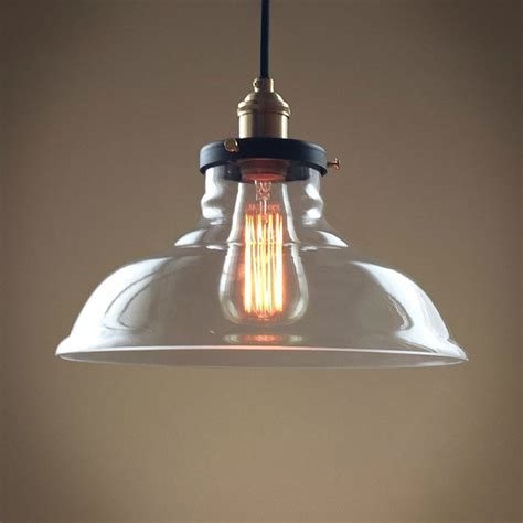 bell  lights large glass kitchen pendant light