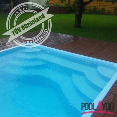 Mini Pool Gfk by Gfk Komplettset Awesome Gfk Pool Aus Polyester X X With
