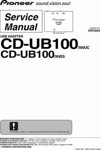 Pioneer Cd Ub100 Service Manual   S Manuals Com  Manual