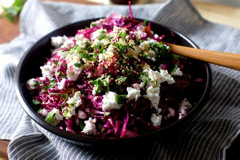date feta  red cabbage salad keeprecipes
