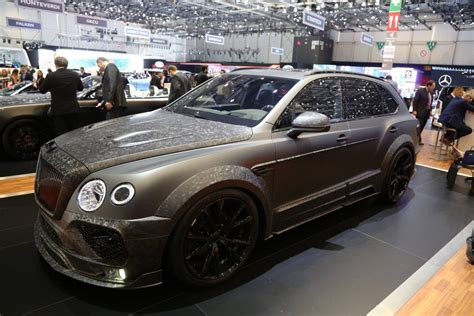 bentley geneva geneva 2017 mansory bentley bentayga black edition gtspirit