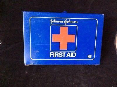 vintage johnson johnson  aid kit  supplies
