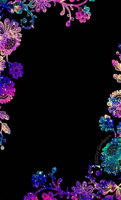 Border Wallpapers Galaxy Floral Neon мистецтво живопису