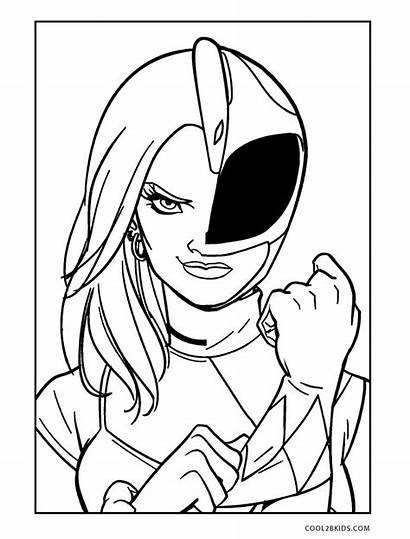 Rangers Coloring Power Pages Ranger Printable Morphin
