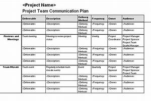 project team communication plan templates officecom With project management communications plan template