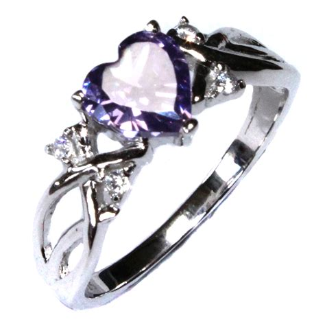 Amethyst (purple) Heart Shaped Promise Ring  Beautiful. Designer Watches. Lapis Lazuli Necklace. Top Rated Engagement Rings. Crystal Swarovski Necklace. Cathedral Wedding Rings. 14k Gold Rings. Artistic Earrings. Lab Grown Sapphire