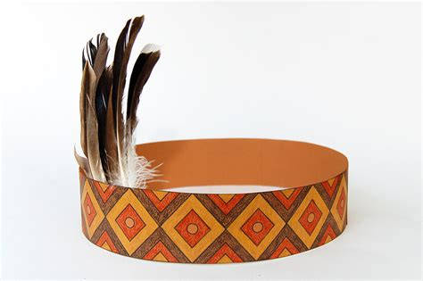 native american headband templates  printable