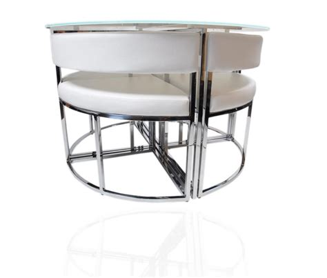 hideaway dining table and chairs white round stowaway glass dining table and chairs set