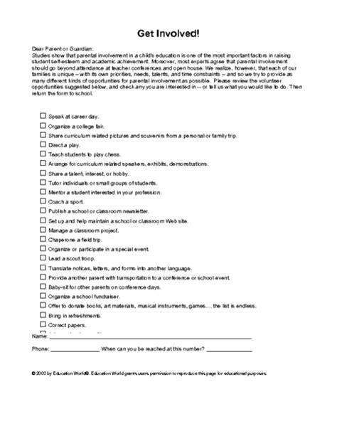 sample interest letter  volunteering planner template