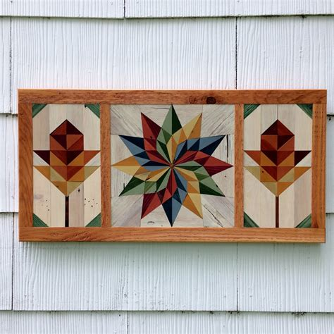 wooden barn quilts for pallet wood barn quilt mosaic handmade