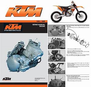 Ktm 125 200 Sx Mxc Exc Service Repair Manual Cd 1999