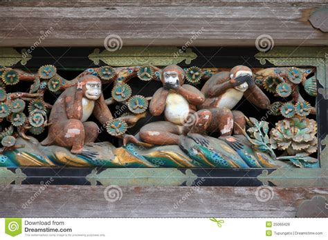 three wise monkeys royalty free stock 25065426