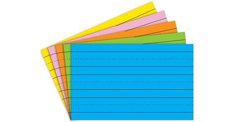 Brite Asst 5x8 75ct Primary Ruled Index Cards