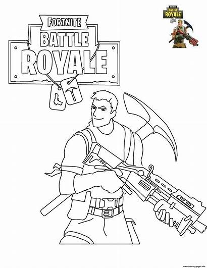 Coloring Battle Fortnite Royale Printable