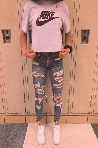 Casual Outfits Jeans Outfit Ripped Lazy Pants