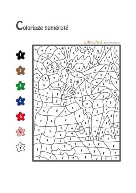 jeu de coloriage numerote chiffre  fete  jeux tete